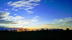 Wind Turbines at Dusk (PhantomMirage) Tags: windmills dusk sunset sky shadow silhouette clouds sun wind turbines windturbines