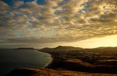 Ilha Dourada. Porto Santo (JoFigueira) Tags: portosanto madeiraisland portugal atlântico arquipélagodamadeira atlantic atlanticocean oceanoatlantico mar sea praia beach céu sky núvens clouds sol pôrdosol sunset sun