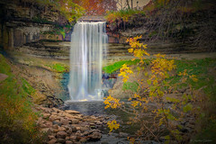 Fall at the Falls (M@rtha Decker) Tags: minnehaha falls park minneapolis minnesota minn mn mississippi river stanthony minnetonka creek longfellow hiawatha songofhiawatha poem sacred littlecrow taoyateduta dakota sioux war indian native american marthadecker pentax ks2 onlyinmn justpentax waterfall stream watershed flickriver
