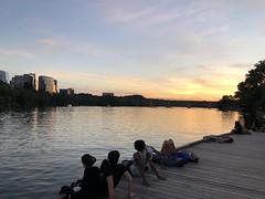 Sunset from the boardwalk, Potomac River at Georgetown Harbour, Washington, D.C. (Paul McClure DC) Tags: washingtondc districtofcolumbia georgetown june2019 people silhouette scenery river potomacriver arlington virginia arlingtoncounty