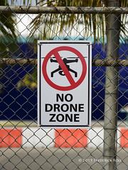 No Drone Zone (© Freddie) Tags: aruba oranjestad sign signage notice drone cruiseterminal fjroll ©freddie