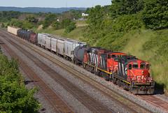 Zebras (Joseph Bishop) Tags: cn emd gp9rm railroad train track tracks rail railway trains rails railfan aldershot cnoakvillesubdivision 4028