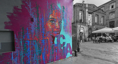 Murcia (rafasmm) Tags: lodz łódź poland polska europe mural color monochrome art paint painting city citycenter citylife street streets streetart streetphotography streetscene graffiti urban walk nikon d90 sigma 1020 ex