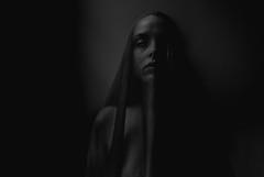 Inevitable (amandanpowell) Tags: selfportrait darkness moody decay depression woman blackandwhite canon sigma art naturallight ghost spirit death fear
