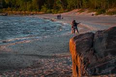 Golden Hour (skram1v) Tags: golde hour beach water rocks people dogs lakewinnipeg manitoba june2019 canada canon