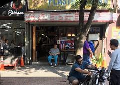 Sidewalks Of Brooklyn (Wires In The Walls) Tags: brooklyn williamsburg 2019 summer streetscene flag puertorican puertorico motorcyclerepair slipcover nyc newyork