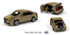 Volvo S40 C1 (2004) (lego911) Tags: volvo p1 c1 s40 sedan saloon 2004 2000s auto car moc model miniland lego lego911 ldd render cad povray ford motor company sweden swedish afol