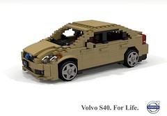 Volvo S40 C1 (2004) (lego911) Tags: volvo p1 c1 s40 sedan saloon 2004 2000s auto car moc model miniland lego lego911 ldd render cad povray ford motor company sweden swedish afol foitsop