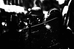 Come to the dark side... (JM@MC) Tags: police marseille protest blackandwhite noiretblanc