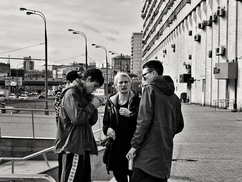 Moscow guys. Early morning ©  Sergei F