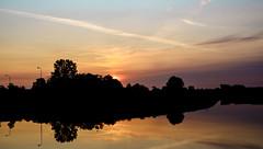 Here comes the sun (Wouter de Bruijn) Tags: fujifilm xt2 fujinonxf35mmf14r sun sunrise dawn morning sky colour color nature landscape water reflection reflections mirror clouds outdoor kanaaldoorwalcheren kanaal loskade loskaai middelburg walcheren zeeland nederland netherlands holland dutch