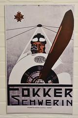Fokker Schwerin Poster (Bri_J) Tags: shuttleworthcollection oldwarden bedfordshire uk airmuseum museum aviationmuseum fokkerschwerin poster fokker wwi