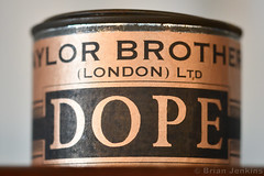 Taylor Brothers Dope Can (Bri_J) Tags: shuttleworthcollection oldwarden bedfordshire uk airmuseum museum aviationmuseum taylorbrothers dope can