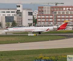 Air Nostrum (Opf Iberia) CRJ1000 EC-LJX taxiing at FRA/EDDF (AviationEagle32) Tags: frankfurtairport frankfurt flughafen flughafenfrankfurt eddf fra germany deutschland airport aircraft airplanes apron aviation aeroplanes avp aviationphotography avgeek aviationlovers aviationgeek aeroplane airplane p planespotting planes plane flying flickraviation flight vehicle tarmac airnostrum iberia oneworld bombardier bombardieraerospace bombardiercrj1000 crj1000 crjx crj bombardiercrjx bombardiercrj ecljx