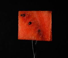 juicy (Antti Tassberg) Tags: wartermelon fork macro macromondays stylingfoodonafork minimal red fruit food 100mm lens minimalistic prime simplified