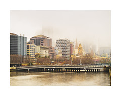 Melbourne on a foggy Sunday (jen 3163) Tags: melbourne fog yarrariver victoriaaustralia misty soft city cityscape
