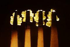 Sugartines..x (Lisa@Lethen) Tags: macromondays macromonday hmm mm theme stylingfoodonafork brown sugar crystals golden macro metal fork tines backlit sun sunlight