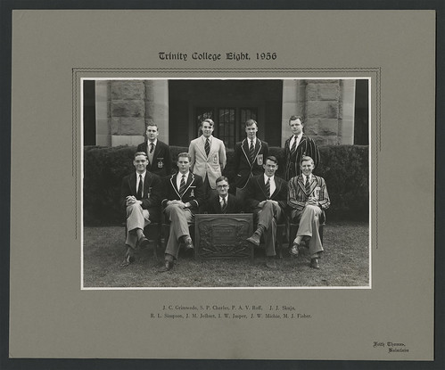 Trinity College Rowing Crew, 1st VIII, 1956