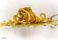 Let's Twist Again (PhilR1000) Tags: stylingfoodonafork macromondays macro food pasta pesto hdr highkey spaghetti explored