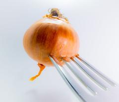 YummY! HMM! (Uup115) Tags: onion fork macro stylingfoodonafork food canon macromondays canonpowershotgx5 closeup