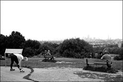 Stretching and sitting - DSCF2101a (normko) Tags: london north west hampstead heath view parliament hill fields seats