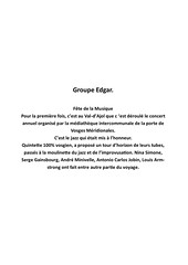 Fête de la Musique Groupe Edgar (1)