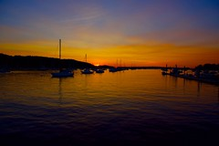 Sunset at the harbor! (ineedathis, Everyday I get up, it's a great day!) Tags: sunset harbor northport huntington longisland newyork masts boats sailboats sea water trees clouds nikond750 seascape seaside reflection sun summer silhouettes