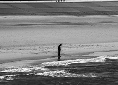 Alone (Acocchi) Tags: alone blackandwhite black white monochrome scaleofgreys ocean beach sea promenade streetphotography photo monochromatic people thoughts think
