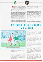 Republic Of Ireland vs United States Of America - 1992 - Page 9 (The Sky Strikers) Tags: republic of ireland eire united states america usa lansdowne road international match friendly official souvenir programme one pound fifty