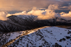 Mt Feathertop (craigholloway) Tags: victoria mtfeathertop mthotham vicalps snow winter mountain sunset cloud dramatic sony voigtlander victorianalps hotham feathertop razorback