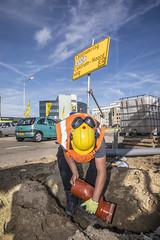 Nieuwe riolering (Rotterdamsebaan) Tags: binckhorst binckhorstlaan denhaag infra infrastructuur bouwen techniek rotterdamsebaan herinrichting riolering
