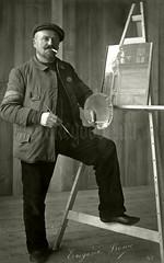 """""""Souvenir Mr Reny Eugène Peintre Arraney Meuse"""" (✠ drakegoodman ✠) Tags: art painter palette canvas prisoner"""