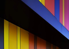 A stripe (ainz1607) Tags: buildings colours simple architecture red colour abstract