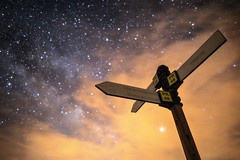 """Galactic directions (""""meltedcheese"""") Tags: milkyway galactic night nightscape signpost sign post milky way via lactea astrophotography"""