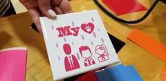 Day 3 - Completed tile (JimTiffinJr) Tags: vinyl makered pittfab19 tinkering workshop mvifi stickers