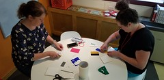 Day 3 - The final tiles come together (JimTiffinJr) Tags: vinyl makered pittfab19 tinkering workshop mvifi stickers