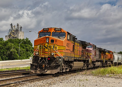 DASH9-44CW in the Lead (Kool Cats Photography over 12 Million Views) Tags: tracks train transportation travel track streetphotography railyard railroad railcar photography outdoors outdoor oklahoma luminar locomotives locomotive landscape oktraveltakeover canon canon24105mmf4lislens canon6d engine gravel clouds landscapephotography