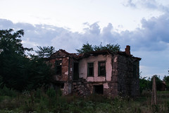 Bulgarian Old Traditional house (pap1tyy) Tags: old bulgarian house abandeno abandenod village magic 100years sky clounds nature garden grass stone woods