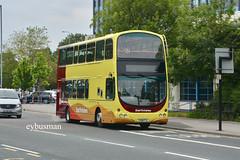 Go Ahead East Yorkshire 737, YX08FYL. (EYBusman) Tags: go ahead north east yorkshire motor services eyms hull bus coach anlaby road royal infirmary wright eclipse gemini volvo b9tl new livery yx08fyl eybusman