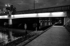 Hiroshima - Aioi Bridge (-dow-) Tags: aioibridge giappone hiroshima japan 広島 日本 monochrome pescatori fisher fujifilm x70