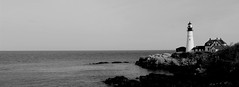 Portland Head Lighthouse (pegase1972) Tags: us usa lighthouse phare maine me portland unitedstates newengland bw ocean atlantic coast light blackandwhite explore explored