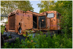 lok (gin_able) Tags: railway abandoned eisenbahn lok waggon old colorful