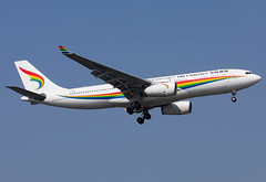 B-1047 Tibet Airlines A332 (twomphotos) Tags: plane spotting sha zsss evening landing rwy18l tibet airlines airbus a332