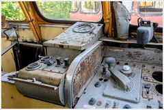 cockpit (gin_able) Tags: railway abandoned eisenbahn lok waggon old colorful