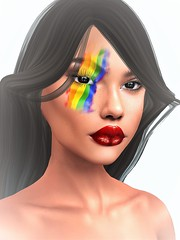 Alma MakeUp@The Pride Festival 2019 (Geoffrey Firehawk MR V♛ Belgium 2014) Tags: sl secondlife event pridefestival makeup almamakeup face portrait headshot beauty catwa lelutka omega appliers fashion fashionpixel model modeling mannequin unisex