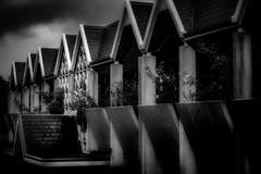 Annex St Mary's Cathedral (Peter Polder) Tags: australia architecture art bw building buildings cityscape clouds cityscapes cityview dusk darlinghurst evening city sky landscape monochrome mono overcast office religious sydney street skyline town urban