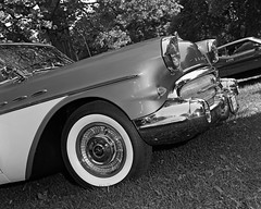 Buick Eight (Howard Sandler (film photos)) Tags: buick vintage blackandwhite largeformat 4x5 graflex crowngraphic schneiderkreuznach xenar fp4 film xtol flashbulb