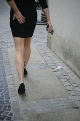 Urban Legs (youdoph) Tags: girl legs street walk shoes skirt dress black ass city sexy