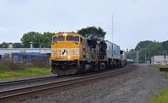 Norfolk Southern 1801 at Kendallville Indiana (Matt Ditton) Tags: norfolk southern 1801 emd train tracks indiana kendallville summer railroad chicago line
