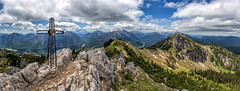 Summits of the Ammergau Alps (cygossphotography) Tags: gipfelkreuz summitcross croix gipfel summit sommet alpen alps alpes berge gebirge mountains montagne bayern bavaria bavière deutschland germany allemagne landschaft landscape paysage natur nature panorama sommer summer été canon eos 6d